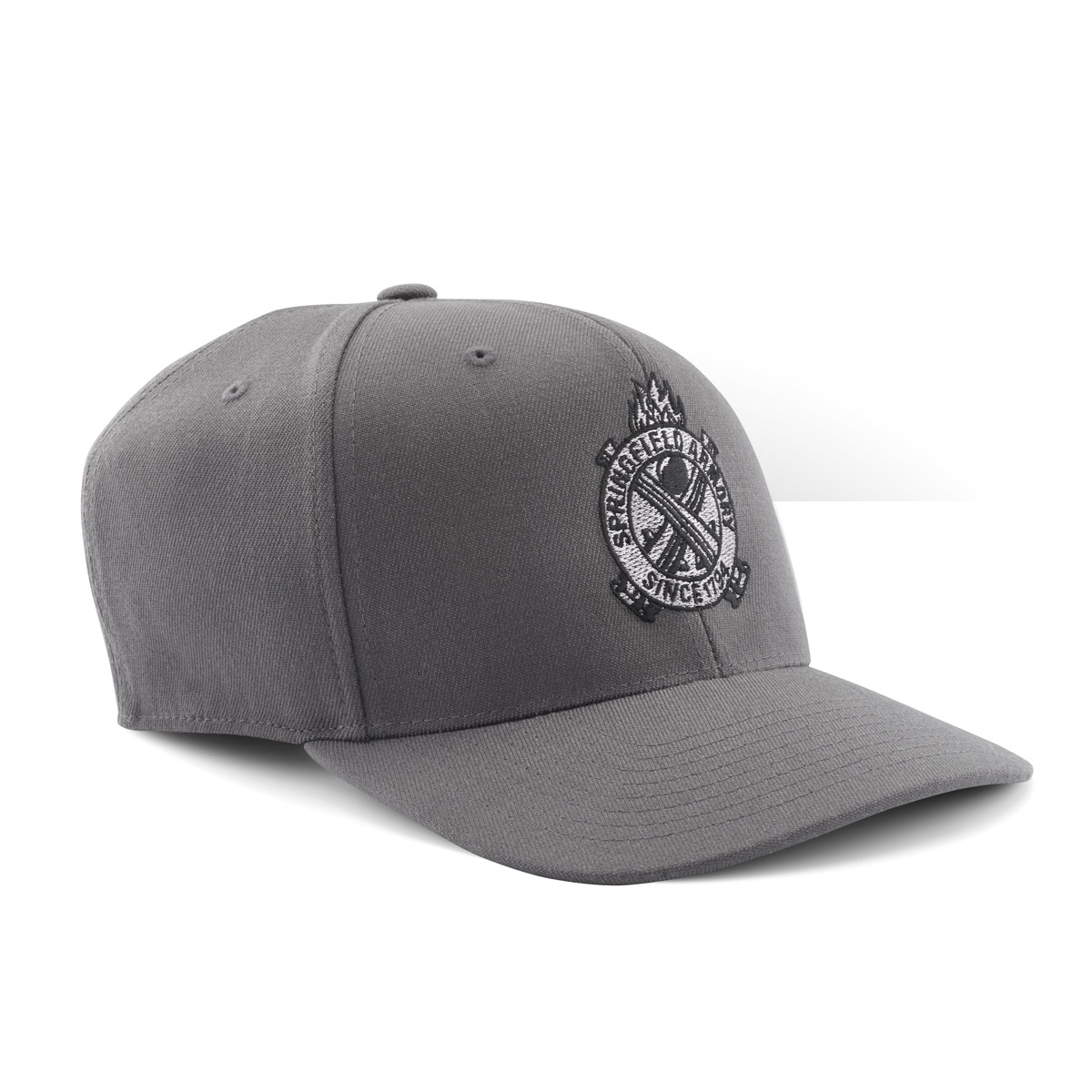 Springfield Crossed Cannon Snap-Back Hat - Gray/Black