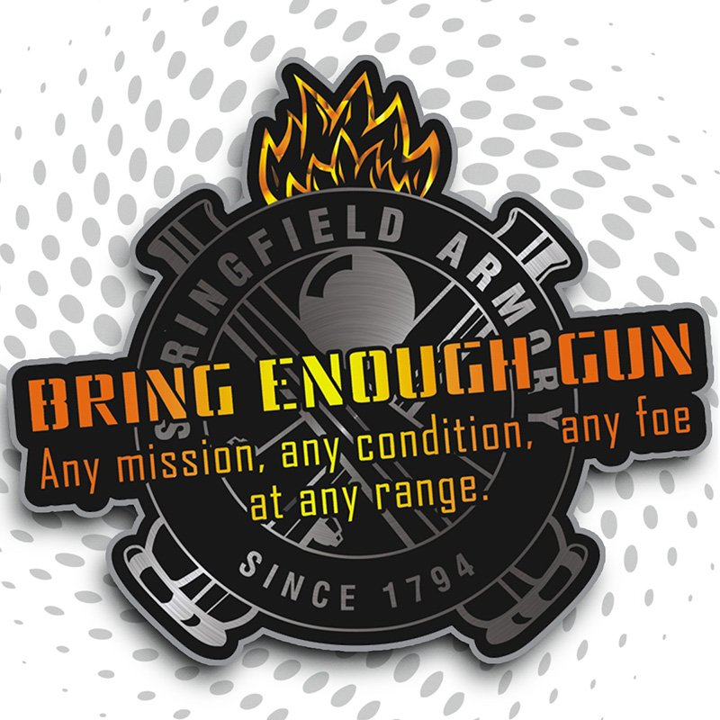 Bring Enough Gun Sticker