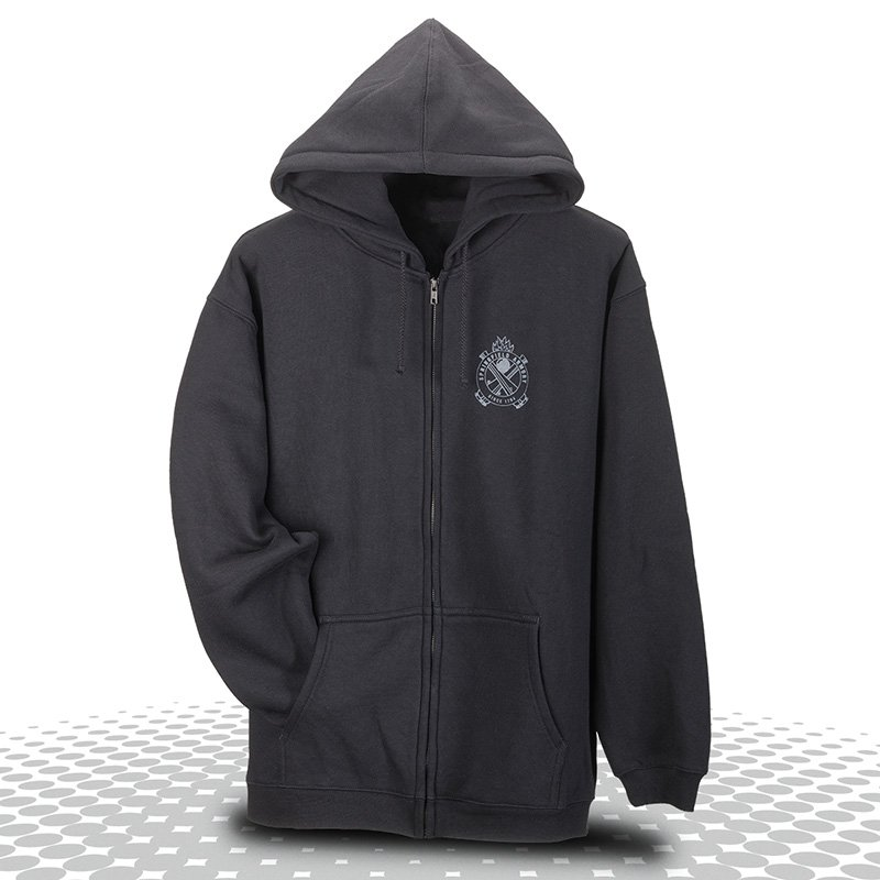 Bring Enough Gun Logo Full Zip Sweatshirt Black